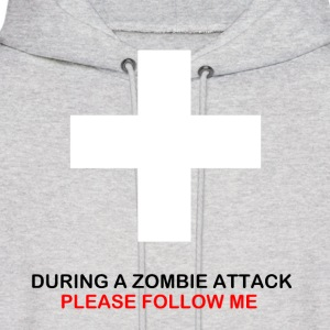 During A Zombie Attack Hoodie - Men's Hoodie