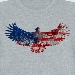 Eagle Patriot - Unisex Tri-Blend T-Shirt by American Apparel