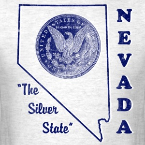 Nevada, The Silver State vintage mens t-shirt - Men's T-Shirt