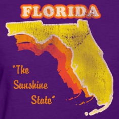 Florida, The Sunshine State retro womens t-shirt