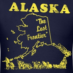 Alaska, the last frontier vintage mens t-shirt