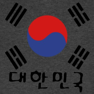 South Korea flag Men's V-Neck T-Shirt by Canvas - Men's V-Neck T-Shirt by Canvas