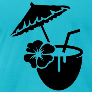 Coconut milk cocktail with hibiscus flower  T-Shirts - Men's T-Shirt by American Apparel