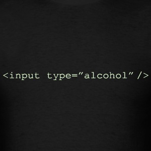 Glow in the Dark HTML Form - Input Alcohol - Men's T-Shirt