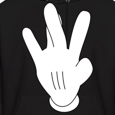 Westside Mickeymouse hand Hoodies