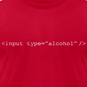 HTML Form - Input Alcohol - Men's T-Shirt by American Apparel