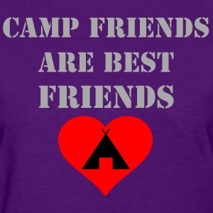 Camp Friends are Best Friends - Silver Glitz Text - Women's T-Shirt