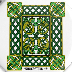 Fairie Patter - Celtic Hounds in Green Buttons - Large Buttons