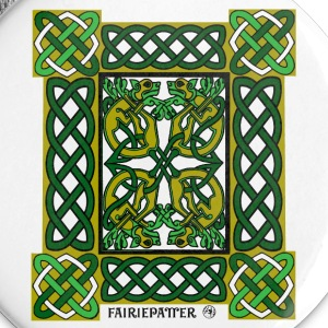 Fairie Patter - Celtic Hounds in Green Buttons - Small Buttons