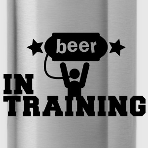 beer in training with lifting man and stars Accessories - Water Bottle