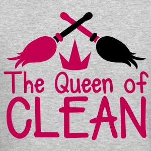 THE QUEEN of CLEAN! with feather dusters crown Long Sleeve Shirts - Crewneck Sweatshirt