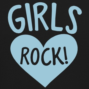 GIRLS rock hot chick shirt design with heart Long Sleeve Shirts - Crewneck Sweatshirt