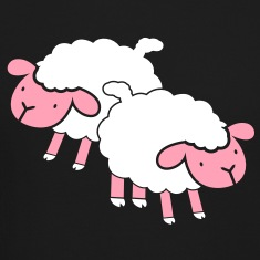 two 2 super cute sheep  Long Sleeve Shirts