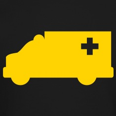 Ambulance simple shape outline with a cross  Long Sleeve Shirts