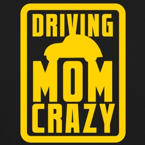 CAR driving mom mommy CRAZY! in pink for kids Long Sleeve Shirts - Crewneck Sweatshirt