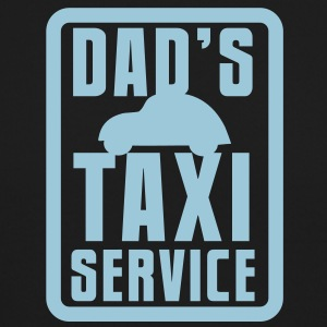 CAR with Dad's TAXI service in a rectangle Long Sleeve Shirts - Crewneck Sweatshirt