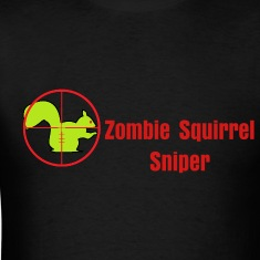 zombie_squirrel_crosshairs T-Shirts