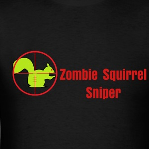 zombie_squirrel_crosshairs T-Shirts - Men's T-Shirt