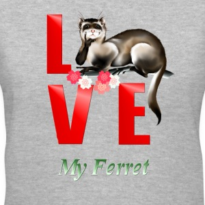 Love Ferret - Women's V-Neck T-Shirt