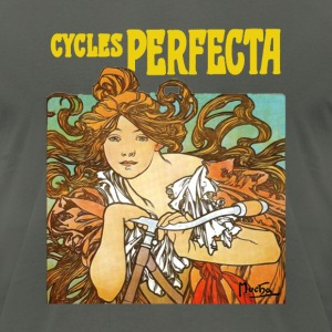Alphonse Mucha - Cycles Perfecta - Men's T-Shirt by American Apparel