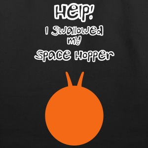 Help I Swallowed my Space Hopper Bags  - Eco-Friendly Cotton Tote