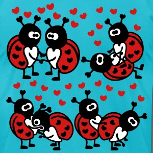 Ladybugs in Love T-Shirts - Men's T-Shirt by American Apparel