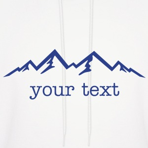 Mountains & text - Men's Hoodie