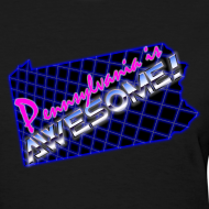 Design ~ Pennsylvania Is Awesome Girl Shirt (Slim Fit)