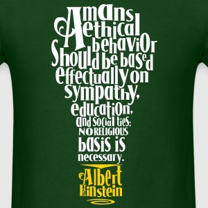 Albert Einstien Quote regarding Religion T-Shirts - Men's T-Shirt