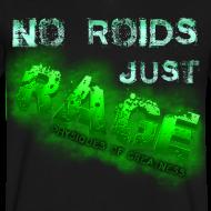 Design ~ No Roids- Green Vneck