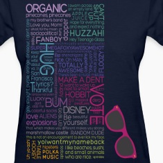 Multicolor Typography  Women's T-Shirts