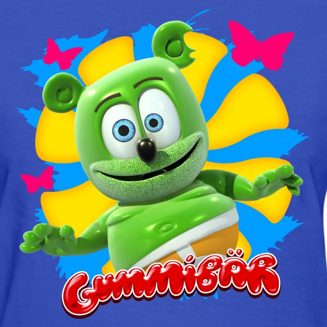 Gummibär (The Gummy Bear) Butterflies Ladies T-Shirt