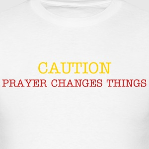 Caution Front Back Only God can Judge Me - Men's T-Shirt