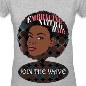 Embracing Natural Hair Signature Tee Women's T-Shi - Women's V-Neck T-Shirt