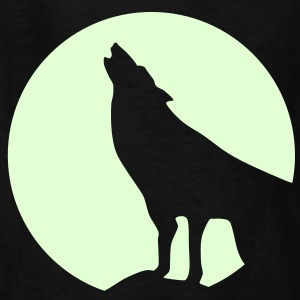 Wolf, Kids, glow in dark - Kids' T-Shirt
