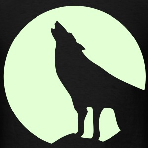Wolf, glow in dark - Men's T-Shirt