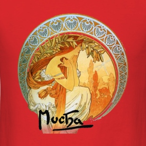 Alphonse Mucha – Poetry - Men's T-Shirt