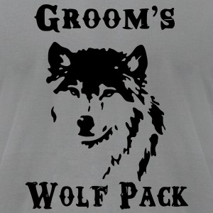 Groom's Wolf Pack - Men's T-Shirt by American Apparel