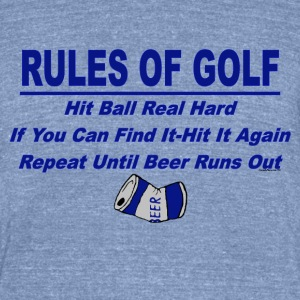 Rules Of Golf - Unisex Tri-Blend T-Shirt