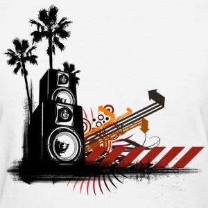Speaker Tower DJ Women's T-Shirts - Women's T-Shirt