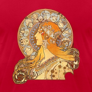 Alphonse Mucha - Zodiac - Men's T-Shirt by American Apparel