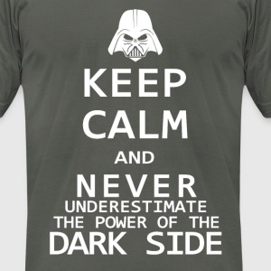 Keep Calm on the Dark Side - Men's T-Shirt by American Apparel
