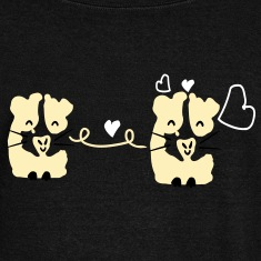 Cute gini pig couple Womens Wideneck Sweatshirt