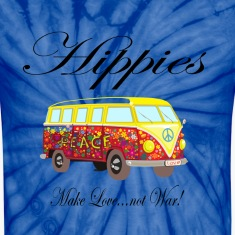 "Hippies: Make Love...not War!"" T-Shirts"