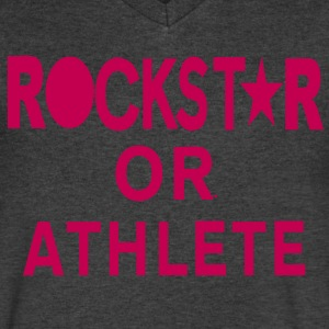 ROCKSTAR OR ATHLETE T-Shirts - Men's V-Neck T-Shirt by Canvas