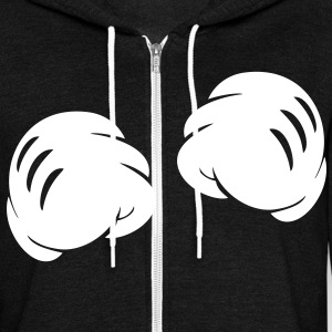 MICKEY FIST HANDS Zip Hoodies/Jackets - Unisex Fleece Zip Hoodie by American Apparel