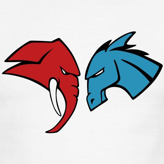 The Red Elephant vs. The Blue Donkey