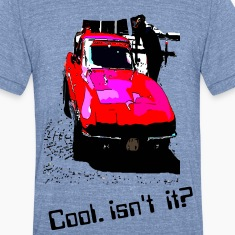 Cool red car Men's Tri-Blend Vintage T-Shirt by American Apparel