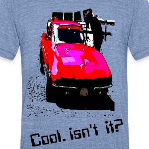 Cool red car Men's Tri-Blend Vintage T-Shirt by American Apparel - Unisex Tri-Blend T-Shirt by American Apparel