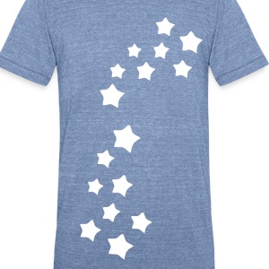 Stars pattern Men's Tri-Blend Vintage T-Shirt by American Apparel - Unisex Tri-Blend T-Shirt